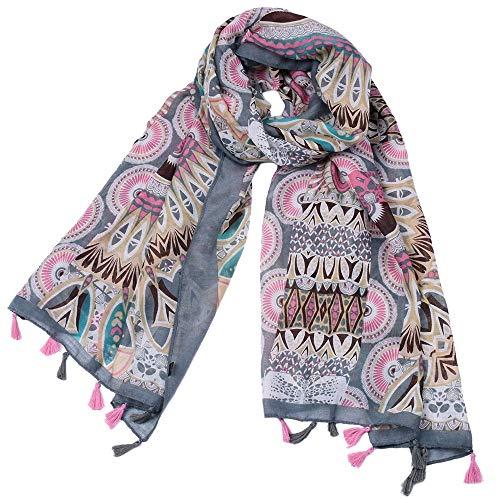No-Branded L.W.SURL Bufanda for Las Mujeres Moda Ligera Otoño Invierno Bufandas Envolturas del mantón Bufanda Voile Caliente (Color : Multi-Colored, Size : OneSize)