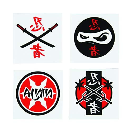 cama24com Ninja Kinder Tattoos 36 Stück Kindergeburtstag Mitgebsel Mottoparty mit Palandi® Sticker