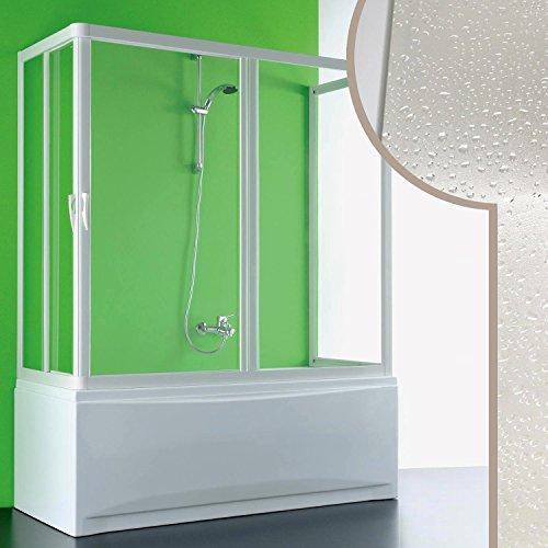 Cabine douche 3 côtés Pare-Baignoire 90x180x90 CM en acrylique mod. Nettuno avec ouverture centra