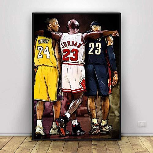 LIZK Kobe Jordan James Basketball Wandkunst Poster Dekor