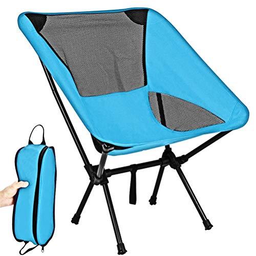 WINBST Camping stoel, opvouwbare outdoor stoel, kleine ultralichte en opvouwbare campingstoel met tas voor outdoor, camping, picknick, wandelen, kamperen, barbecue, picknick, strand