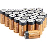 Amazon Basics 24 Pack C Cell All-Purpose Alkaline Batteries, 5-Year Shelf Life, Easy to Open Value Pack