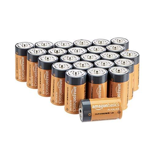 Amazon Basics Everyday Alkalibatterien, Typ C, 24 Stück