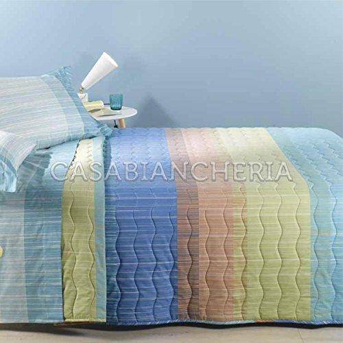Tagesdecke Gesteppt Doppelbett Caleffi Niagara 160 x 190 cm Kornblumenblau