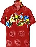 LA LEELA   Funky Camisa Hawaiana   Señores   Manga Corta   Bolsillo Delantero   impresión De...