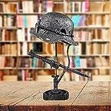 APCHY Lámpara De Reliquia De Guerra, Lámpara De Cascos, Bayonetas Y Balas Lámpara De Batalla Hecha De Cascos, Lámpara De Reliquia De Guerra Que Recuerda Esa Historia,A