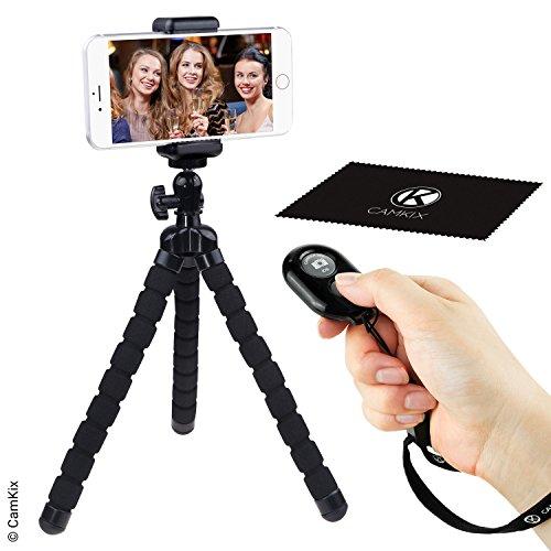 Camkix Trípode Flexible Estilo Pulpo y Obturador de Cámara Bluetooth - Utilícelo para Videollamadas, Reuniones, Vlogging, Streaming y Aprendizaje Electrónico - Tome Fotografías y Grabe Videos