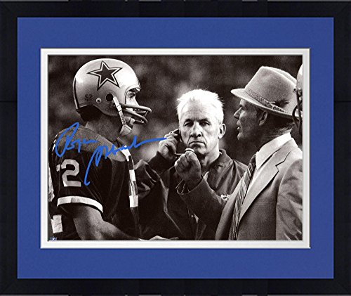 Framed Roger Staubach Dallas Cowboys Autographed 8