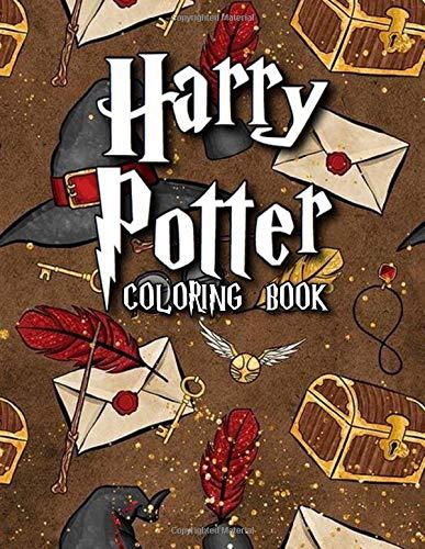 Harry Potter Coloring Book: Over 50 Hogwarts Harry Potter Coloring Books for Adults and Kids