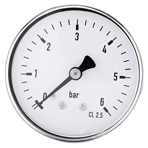 Manometer, 1 STÜCKE Hohe Präzision Manometer 0-6 bar 1/4