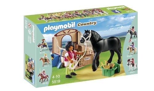 Playmobil 5519 - Paddock con Cavallo Frisone e Fantina