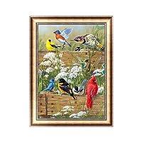 (鳥)-227 DIY 5D フルドリル ダイヤモンド絵画 刺繍 クロスステッチキット 結晶 リビングルーム ベッドルーム 勉強部屋 入口