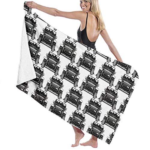 Boy & Girls strandhanddoek badlaken duurzaam en waterabsorberend microvezel bad handdoeken Cool jeep auto snel drogen reishanddoek voor zwemmen sport douche spa yoga 31x51 inch