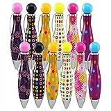 12pcs Big Fat Pens Short Mini Ink Pen For Tremor Arthritis Handicap Writing Parkinson Elegant Black Ink 0.7mm