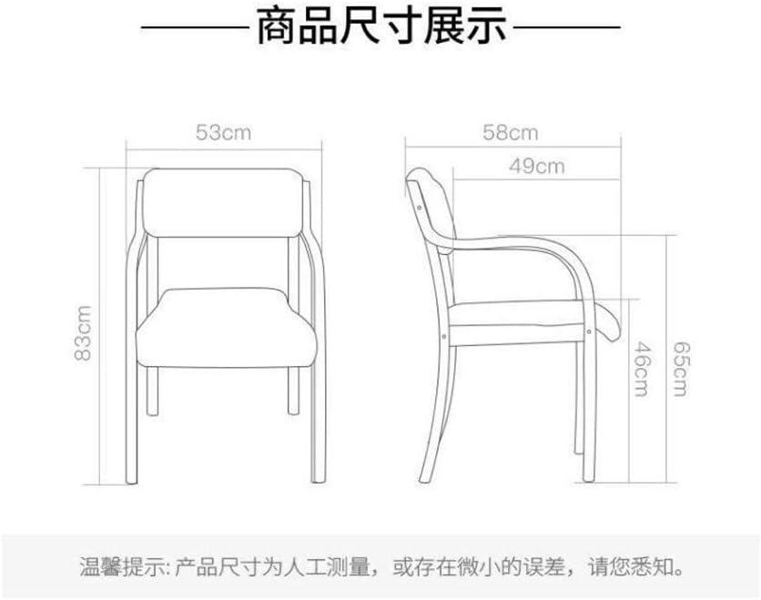 LYF Chaise de Salle à Manger en Bois Massif Nordique, Chaise de Bureau empilable en Bois Massif Moderne et Simple Chaise de Bureau Chaise d'ordinateur Chaise de Loisirs C