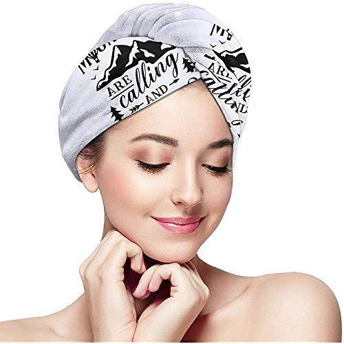 mahada de bergen bellen en ik moet gaan mode lang haar douchekap absorberende twist hoofd handdoeken met knop haar handdoek wrap Turban
