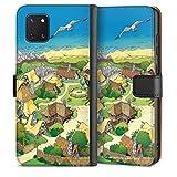 DeinDesign Étui Compatible avec Samsung Galaxy Note 10 Lite Étui Folio Étui magnétique Village...