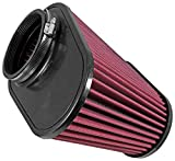Airaid 721-128 Universal Clamp-On Air Filter: Oval Tapered; 4.5 Inch (114 mm) Flange ID; 7.375 Inch (187 mm) Height; 11.5 x 7 Inch (292 mm x 178 mm) Base; 9 x 4.5 Inch (229 mm x114 mm) Top