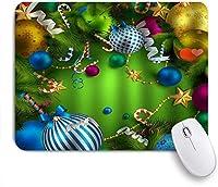 MISCERY マウスパッド クリスリスマスデコレーションギフト 高級感 おしゃれ 防水 端ステッチ 耐久性が良い 滑らかな表面 滑り止めゴム底 24cmx20cm