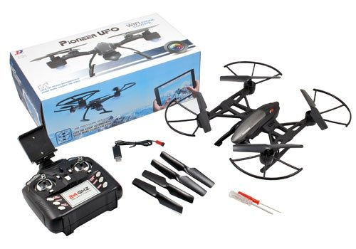 LiDiRC JXD 509G Pioneer UFO Drohne Mini Typhoon ( Clone) mit 5,8Ghz FPV Monitor 2 Megapixel Kamera Höhen Stabilisator Quadrokopter Mit zusätzlicher Batterie