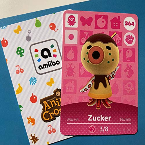 No.364 Zucker Animal Crossing Villager Cards Series 4. Third Party NFC Card. Water Resistant