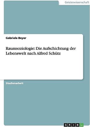 Raumsoziologie: Die Aufschichtung der Lebenswelt nach Alfred Schütz