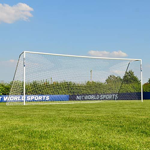 FORZA Alu60 Soccer Goal - Club Spec Aluminum Soccer Goal (Choose Your Size 6ft x 4ft -> 24ft x 8ft) Long-Lasting and Weather-Resistant Alu60 Soccer Goals [Net World Sports] (16ft x 7ft)