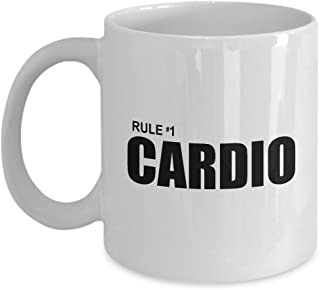 Zombieland Rule #1 Cardio Funny Gift Mug Number One Zombie Land Zombies Sarcastic Movie Quote Coffee Cup