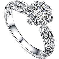 Wuztai Women's 925 Sterling Silver Rings