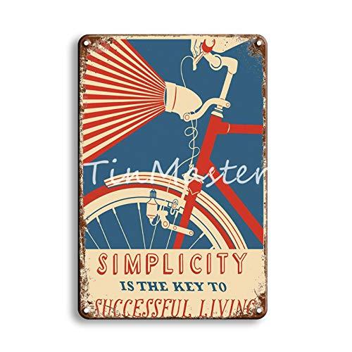 muzi928 Cartel de Metal Garaje Decoración del hogar Cartel de Pintura de Hierro Vintage Cartel de Chapa Bar Decoración de Pared 20x30cm 50326