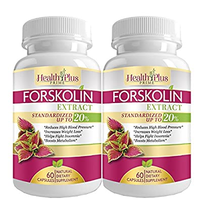 Forskolin Extract Weight Loss Supplement, Ultra Pure Active Coleus Forskohlii Powder, Research Verified Organic Natural Vegan Hunger Suppressant, USA Made