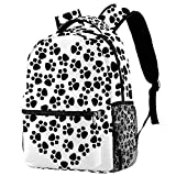 Abstract Animal Art Canine Cat Casual Backpack School Bag Travel Daypack