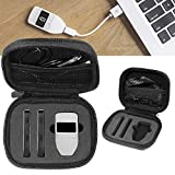 Bitcoin and Cryptocurrency Hardware Wallet Case for Two pieces of Ledger Nano S Cryptocurrency Hardware Wallets & one piece Trezor Bitcoin Wallet, Mesh pocket for cable, detachable wrist strap (Black)