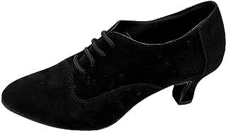 Celucke Sandalette Jazzschuhe Damen Standard Tanzschuhe Trainingsschuh Latein Salsa Tango Prinzessinnen Dance Schuhe Spanische Flamenco Pumps Celucke