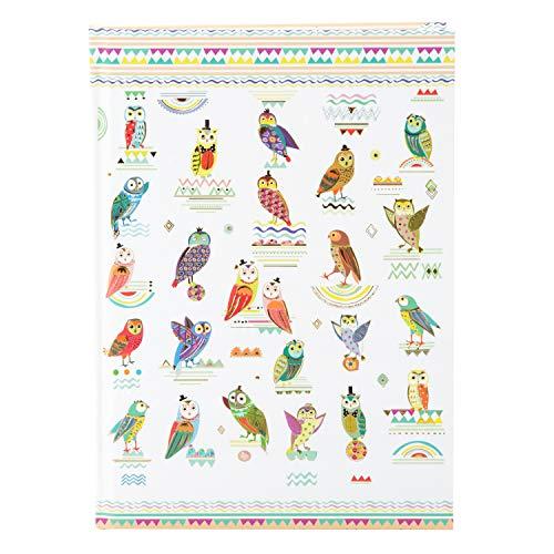 goldbuch 64358 Notizbuch DIN A5 mit Motiv Owls im Turnowsky Design, Kladde mit 200 creme Seiten, 100 g / m² Papier blanko, tintenecht, Notizheft gebunden mit Kunstdruck, Goldprägung und Lesezeichen