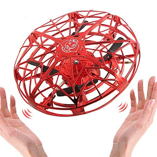 Rich Levitation UFO Drone,Gravity Defying Hand-Controlled Suspension Helicopter Toy,UFO Flying Ball Toys,Infrared Induction Interactive Drone Indoor Flyer Toys USB Charging(6x11cm)