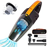 Baseland Cordless Handheld Vacuum, Portable Car Vacuum Cleaner, Upgraded Rechargeable Vacuum for Household and Car Cleaning,with 2 Kinds of USB and Socket Charging Line.
