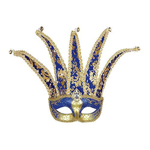 Widmann Jester Eyemask Traditional Acapulco Masks Eyemasks & Disguises for Masquerade Fancy Dress Costume Accessory