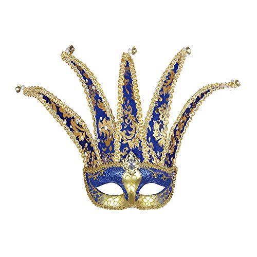 Widmann Jester Eyemask Traditional Acapulco Masks Eyemasks & Disguises for Masquerade Fancy Dress Costume Accessory