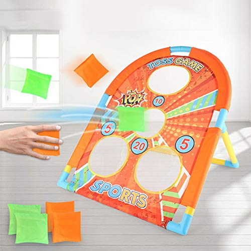 welltop Wurfspiel Set Cornhole Spiel Tic Tac Toe Double Games mit 6 Bean Bags