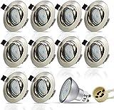 HiBay® LED Einbaustrahler Edelstahl gebürstet...
