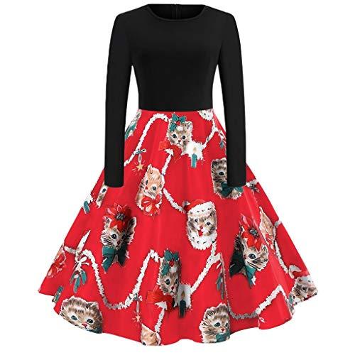 JUTOO Damenmode Kleider Kleid Seide konfirmationskleider blau Sommerkleider Damen lang Stretchkleid schwarzes Strickkleid Party Kleider Kleid schwarz...