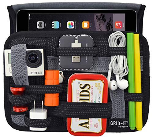 Cocoon GRID IT WRAP 7 iPad Mini Hulle Organizer mit elastischen Bandern Organizer fur Aktentasche Handtasche Neopren Schutzhulle fur Tablets Organisationssystem Schwarz 23 x 32 x 17cm