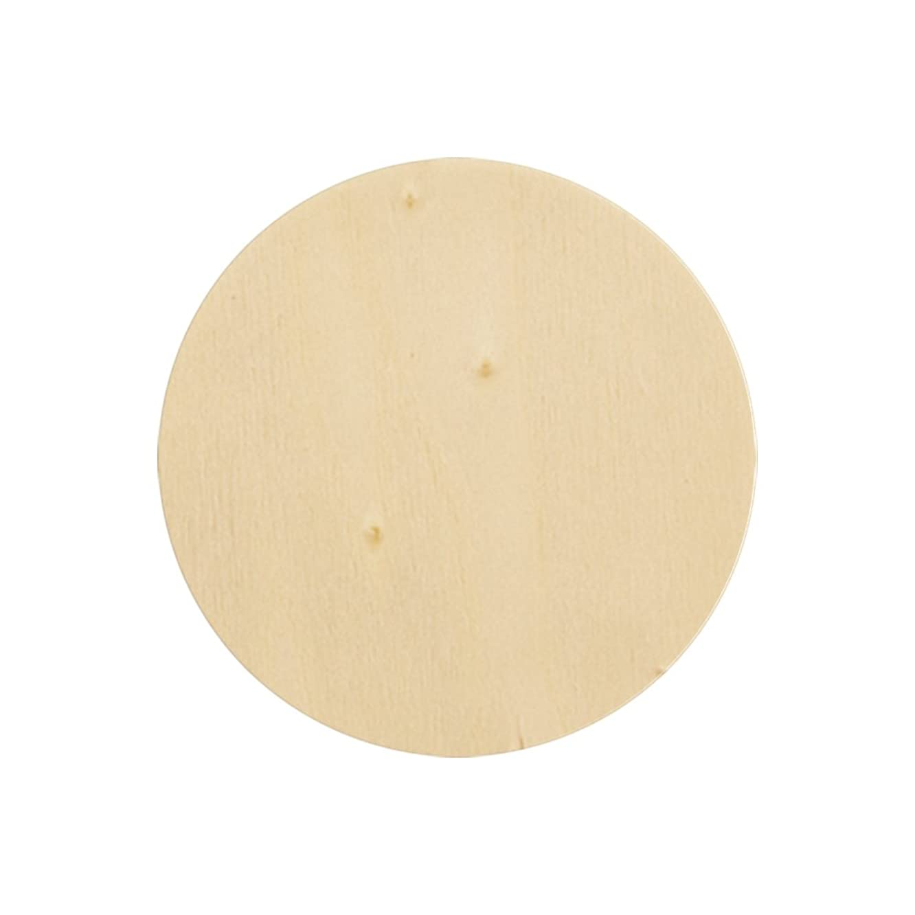 Craftparts Direct Natural Unfinished Round Wood Circle Cutout 10 Inch - Bag of 10