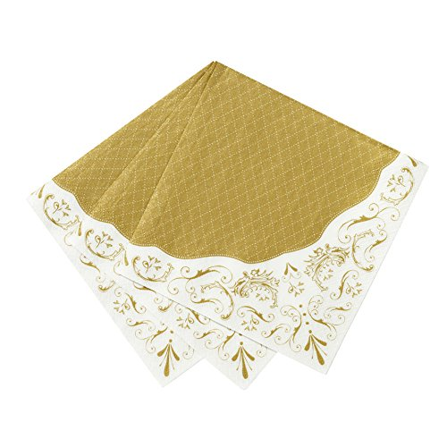 Talking Tables Party Porcelain Gold-Decorazioni a Forma di Stelline