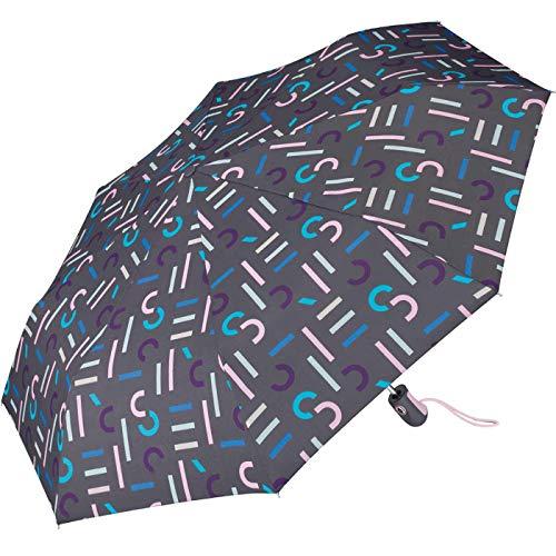 Esprit Regenschirm Easymatic Light letterjam Grey