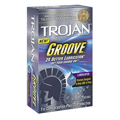 Trojan Groove Lubricated Condoms, CmbUti,10 Count Per Box (Pack of 2)