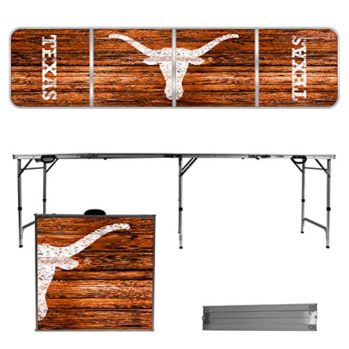 Victory Tailgate Texas Longhorns 8 Foot Portable Folding Tailgate Table Weathered Version