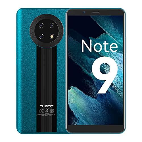 CUBOT Note 9 Smartphone, Handy ohne Vertrag, 4G Android 11, 5.99'' HD Display, 16MP Dreifach Kamera, 5900mAh Akku, 3GB/32GB, 128GB Erweiterbar, Dual SIM (Grün)