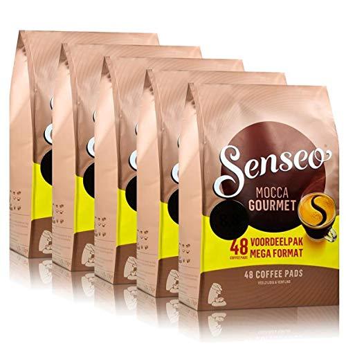 Senseo Kaffeepads Mocca Gourment, Frisch & Intensiv, Kaffee, neues Design, 5er Pack, 5 x 48 Pads